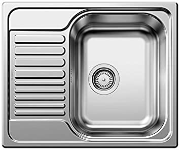 BLANCO TIPO 45 S Mini Lavabo sobre-encimera Rectangular Acero inoxidable - Fregadero (Lavabo sobre-encimera, Rectangular, Acero inoxidable, Acero ...