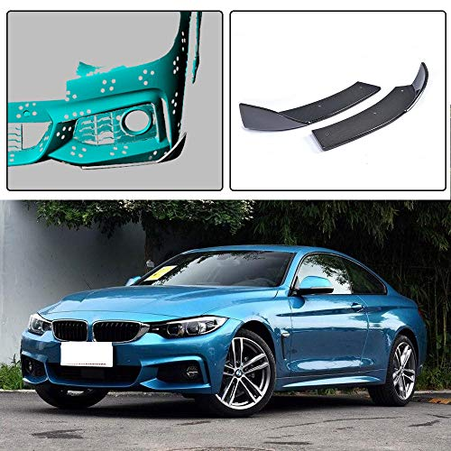 (JC SPORTLINE fits BMW 4 Series 420i 428i 435i 440i M Sport F32 F33 F36 2014-2018 Carbon Fiber Front Splitters Lip Spoiler Bumper Cover)