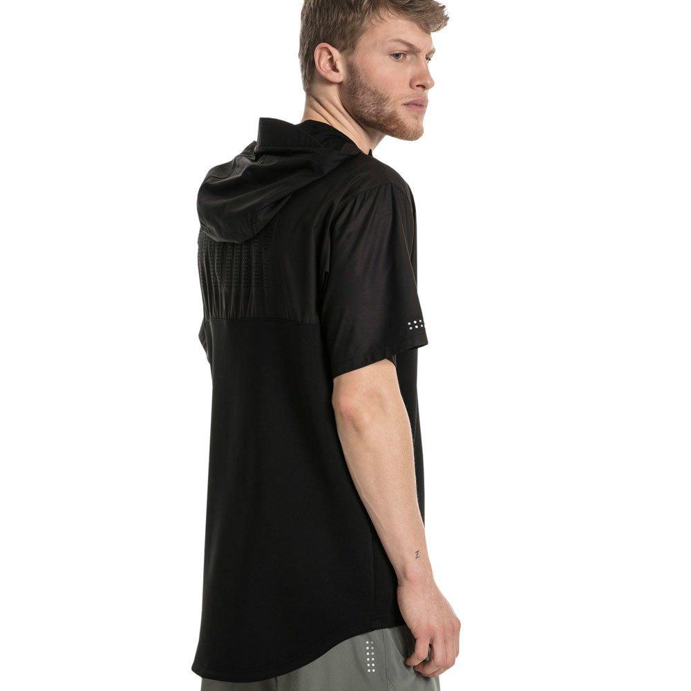 94703e773eb Puma Energy SS 1/4 Zip Hooded Running Top - SS18 - Medium Black:  Amazon.co.uk: Clothing