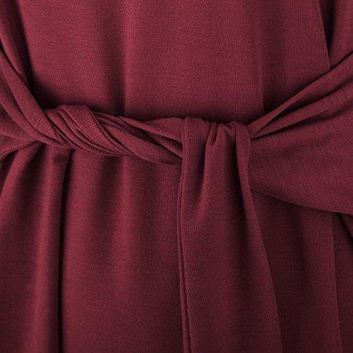 Fit Slim Luxspire Femmes Sans XXL Bordeaux des Manches Gilet Robe 0gqw0Ra