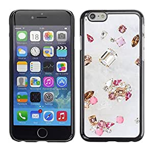 PC/Aluminum Funda Carcasa protectora para Apple Iphone 6 gem diamond stone bling gold pink / JUSTGO PHONE PROTECTOR