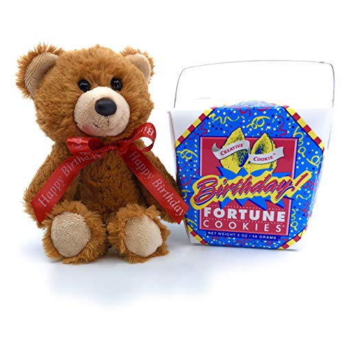 - Happy Birthday Aurora Teddy Bear & Fortune Cookies Gift, Kosher & Nut Free USA