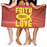 Cap shorts Faith, Hope And Love Over-Sized Cotton Batch Towel