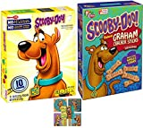 Scooby-Doo Treat Snacks Baked Cinnamon Graham Cracker Whole Grain Bones & Assorted Fruit Flavor Pouches + Bonus Stickers
