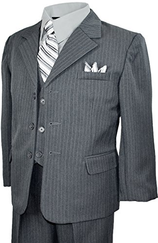 Grey Pinstripe Suit - 7