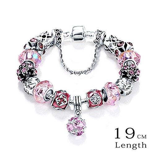 (Olive Tayl Bottom Price Promotion 2 Weeks Antique Silver Original Women Glass Charm Bracelet & Bangle Fit Charm Bracelet)