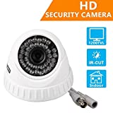 EWETON 1/4″ CMOS 1200TVL CCTV Home Surveillance 36 LED 3.6mm Lens Wide Angle Indoor Dome Security Camera with IR Cut-85ft Night Vision Distance,Plastic Housing White Review
