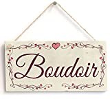 "Meijiafei Boudoir - Heart Design PVC Sign / Plaque 10""x5"""
