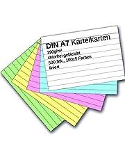 Indexkort A7 färgade