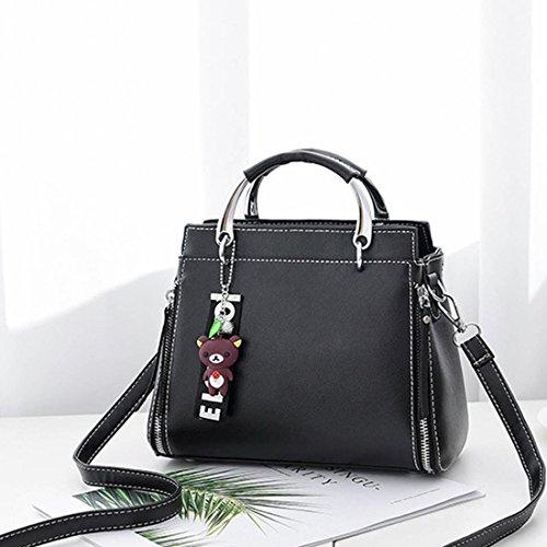 Bags Top Tote Black Handle Womens YIBLBOX Satchel Bags Ladies Designer Shoulder Bags Messenger UXYUqB0w