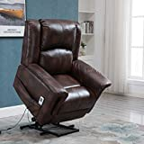 Power Lift Chair Recliner Wall Hugger PU Leather Heated Vibration...