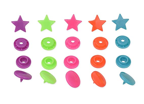 Amazon.com: 300 Complete Sets Snap Kits Plastic Resin Snap Fastener Buttons KAM T5 Size 20 (1/2