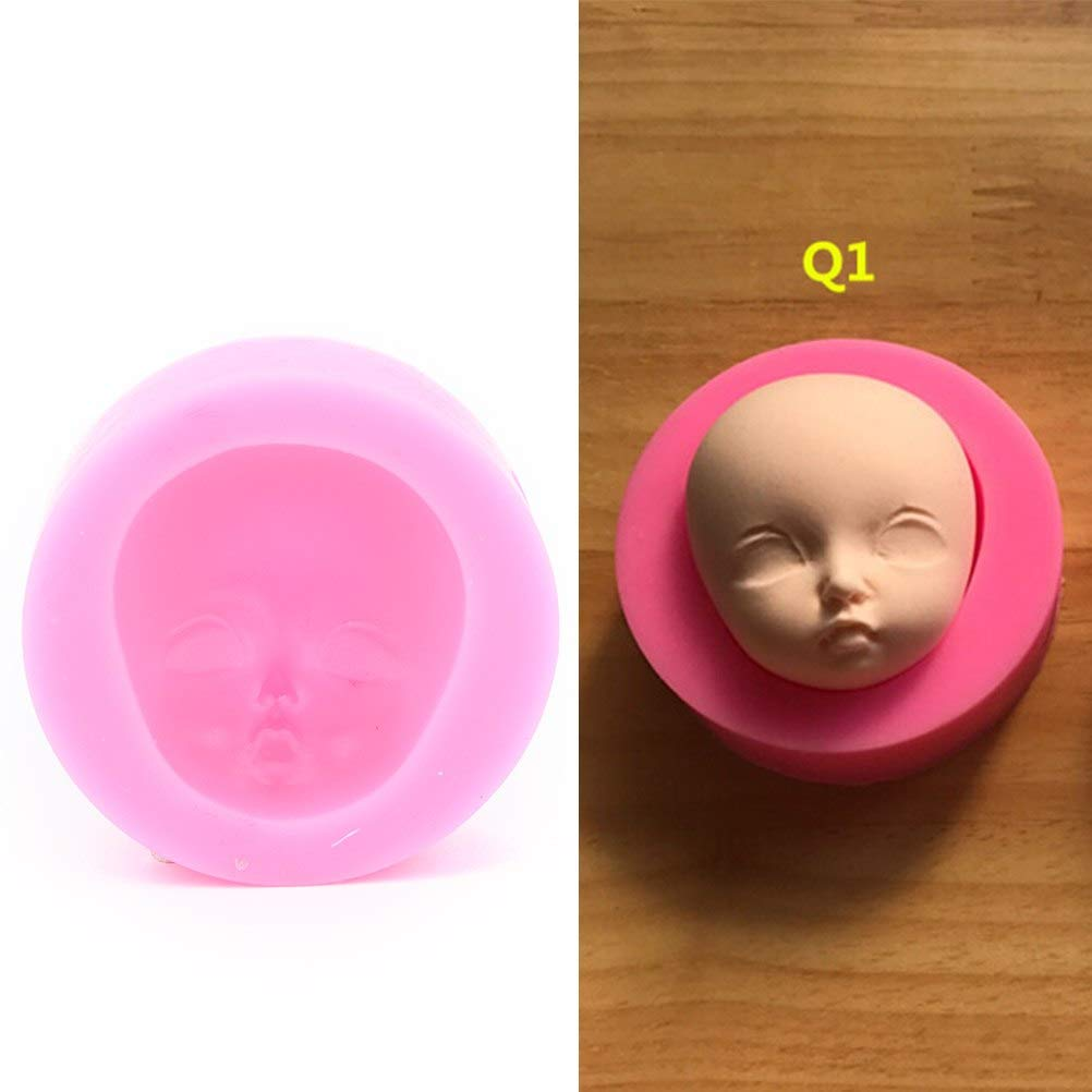 Clay Professional Extruders Mixers Presses Clay Extruders Face Mold Head Mould Resin Silicon Polymer To 1pc Silicone Polymer Clay Resin Baby Face Girl Head Chocolate Mold Tail Raccoon