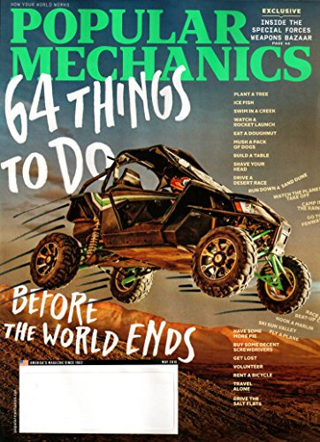 Popular Mechanics Magazine May 2018   64 Things to do before the World Ends