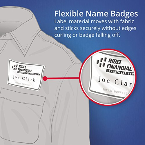 Boys Premium Name Labels: Avery Premium Personalized Name Tags, Print Or Write, 2-1