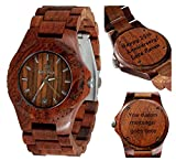 Wood Watch - Wooden Watch -Men's - Women's - Lady's style - Customizable - Personal Message Laser Engraving