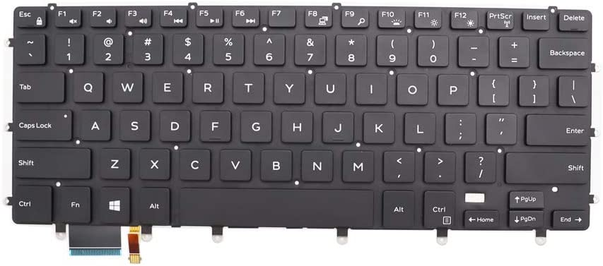 New Keyboard for DELL Inspiron 15 7000 15-7558 15-7568 XPS 15 9550 9560 9570 Precision 5510 m5510 5520 5530 NSK-LV0BW us Backlit Black