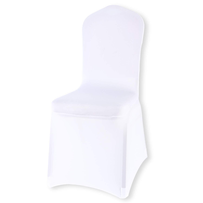 Monrise ストレッチ折りたたみ椅子カバー - ポリエステルスパンデックススリップカバー 宴会 結婚パーティー 12/50/100個 12 Pieces ホワイト MR-QB12P-WHITE 12 Pieces ホワイト B07M5F1LRT