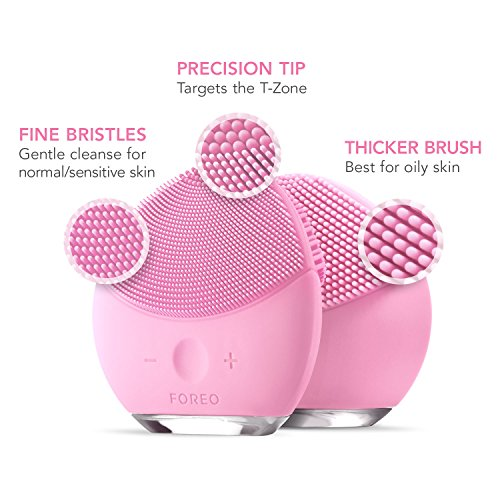 FOREO LUNA mini 2 Facial Cleansing Brush, Gentle Exfoliation and Sonic Cleansing for All Skin Types, Pearl Pink by FOREO (Image #6)