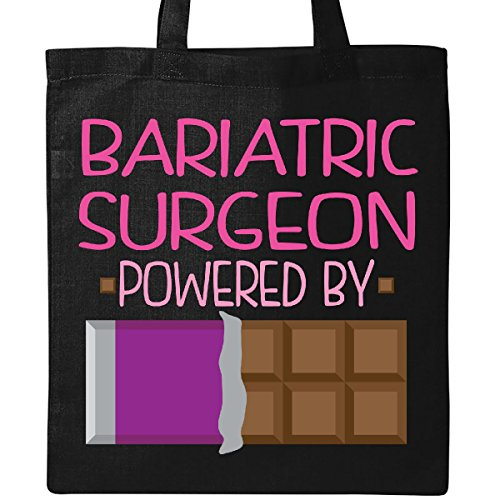 Inktastic Bariatric Surgeon Powered By Chocolate Tote Bag Black