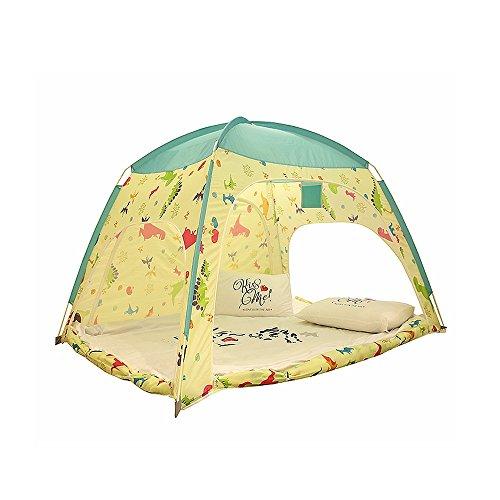 下向き石炭花火家庭の照明- 子供用ゲームテント漫画恐竜パターンイエローウォームモデリングオーシャンボールハウス屋内と屋外の玩具ビッグテントビーチテント(枕と他の装飾は含まれていません) テント