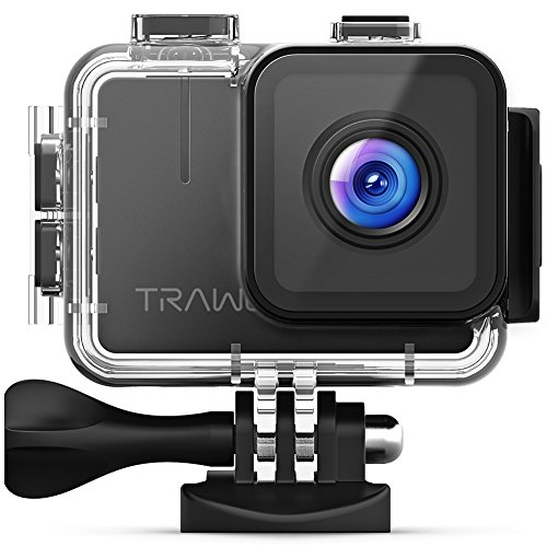 APEMAN Trawo Action Camera 4K WiFi Ultra HD 20MP Underwater Waterproof 40M Camcorder with 170 ° Ultra-Wide Angle Panasonic Sensor EIS Stabilization Dual 1350 mAh Batteries