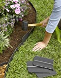 "flower bed edging Easy No- Dig, Pound-In, Interlocking Landscaping Edging Kit 8"" Tall, 20' Long"