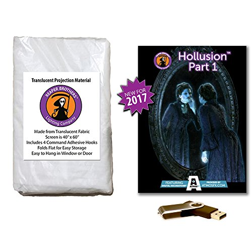 AtmosFearFX Hollusion Part 1 Halloween Compilation Video on USB and Reaper Bros High Resolution Projection Screen