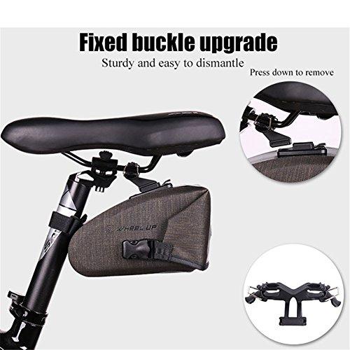 ASOSMOS Bike Saddle Bag,Waterproof Bicycle Seat Packs Triangle Bike Seat Storage Bag with Quick Release Buckle for Road Bike Mountain Bike MTB Bicycle by ASOSMOS (Image #4)