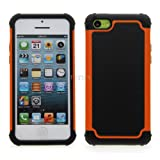 iPhone 5C Hard Armor High Impact Shock Proof Dual Layer Case Cover by theMobileArea- Orange