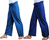 (DOUBLE) 2 x Striped Thai Fisherman Wrap Pants Trousers