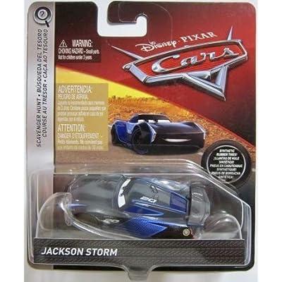 Disney Pixar Cars Die-cast Jackson Storm With PVC Tires Vehicle: Toys & Games