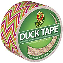 Duck Brand 280978 Printed Duct Tape, Zig Zags, 1.88 Inches x 10 Yards, Single Roll