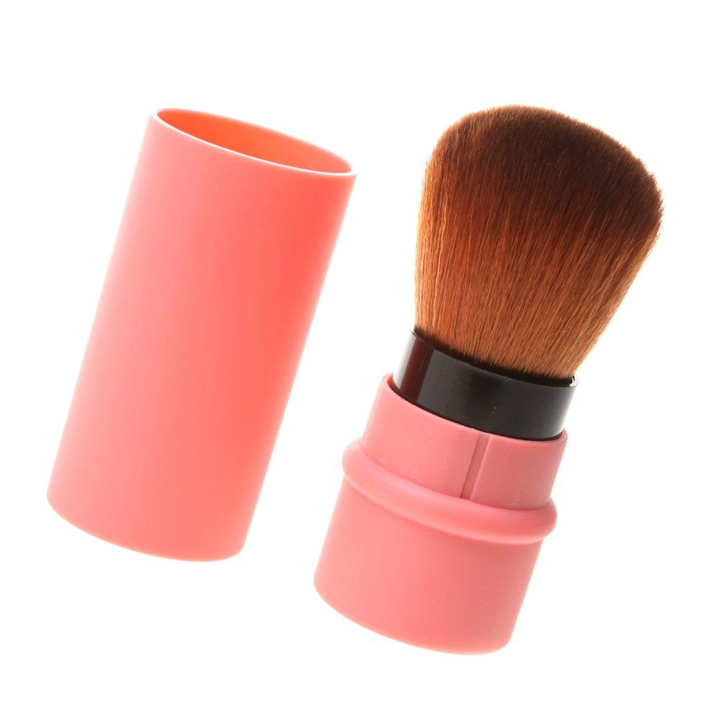Sharplace Professionelle Einziehbare Kosmetik Bürste Kabuki Rouge Make up Pinsel Concealer Puderpinsel Blush Brush Gesicht Pulver Pinsel - Rosa