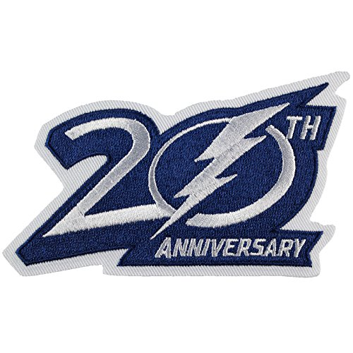 2012-13 Tampa Bay Lightnings 20th Anniversary Jersey Patch 20th Anniversary Patch