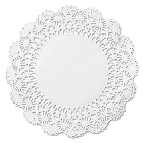 100 White Round Paper Lace Doilies - 4 inch - Perfect for embellishing packages, packaging baked goods, decorating Celebration Package