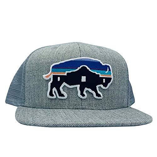 Red Dirt Hat Company Mens Kids Adobe Buffalo Patch Cap O/S Grey