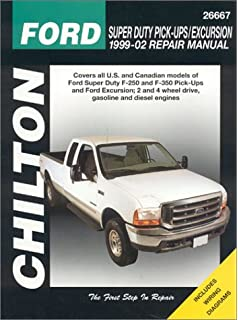 Haynes ford super duty pu and excursion 99 02 manual ford super duty pick ups excursion 1999 2002 chiltons total car fandeluxe Gallery