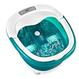 NEW! HoMedics 2-in-1 Wet or Dry Deep Soak Rolling Foot Bath Spa Massager with Heat Boost Power and Wash Cloth