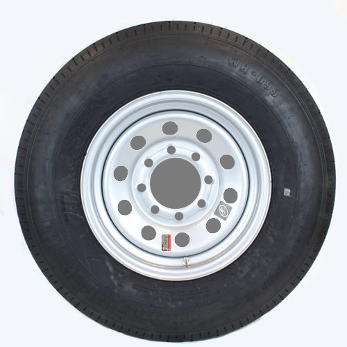 16' x 6' Silver Modular Trailer Wheel with radial TrailFinder ST23580R16E Tire Mounted (8-6.5' bolt circle) Southwest Wheel