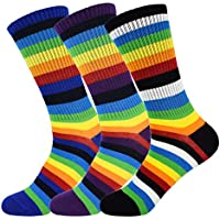 3Pack Women's Dress Cool Colorful Fancy Novelty Funny Casual Combed Cotton Crew Socks