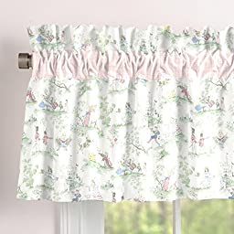 Carousel Designs Pink Over the Moon Toile Window Valance Rod Pocket