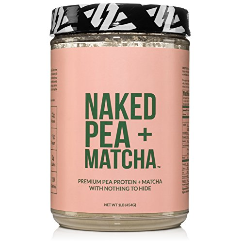 Naked Pea + Matcha Protein 1LB - Pea Protein Isolate from North American Farms and Organic Matcha - Plant Based, Vegetarian & Vegan Protein. Easy to Digest, Non-GMO, Gluten, Lactose, and Soy Free by NAKED nutrition