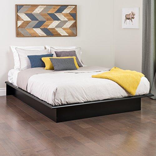 prepac platform bed, queen, black