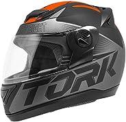 Pro Tork Capacete Evolution G7 Fosco 60 Preto/Laranja