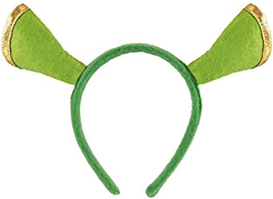 Fancy Dress-World Book Day-Fiona-Animal GREEN OGRE EARS ON HEADBAND Adults Kids