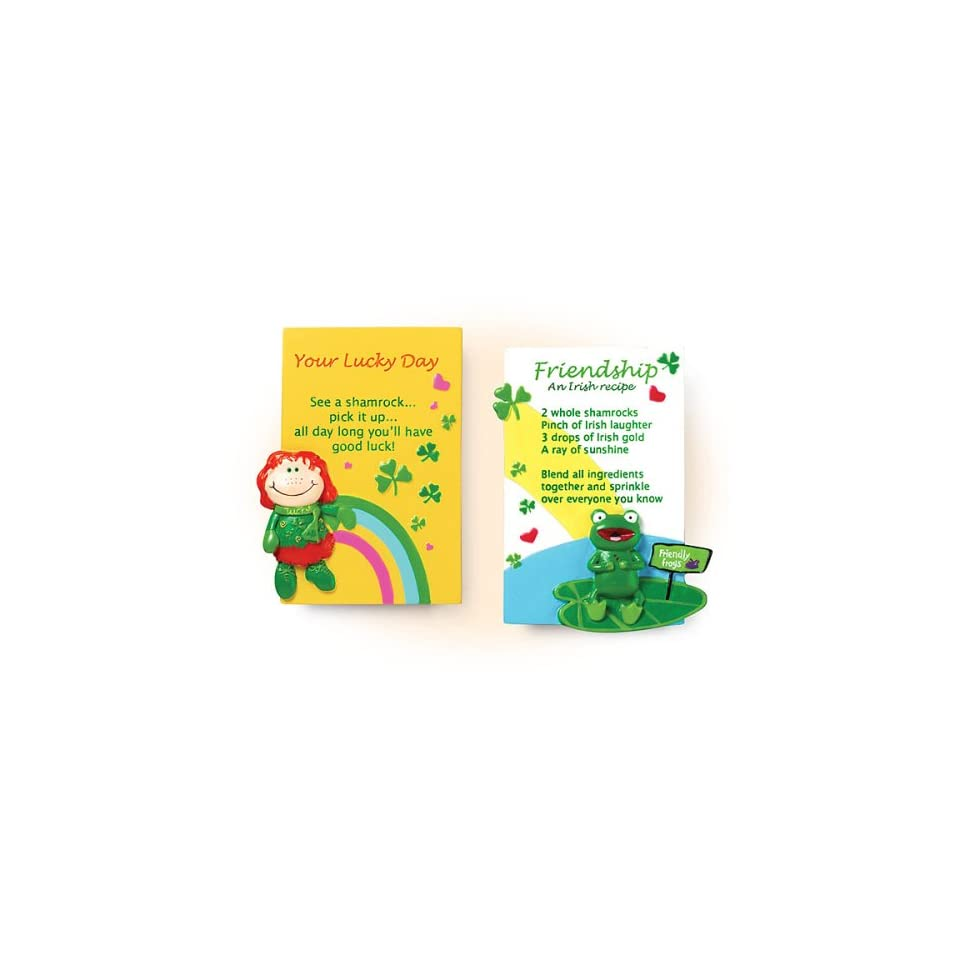 Set of Two Fun Irish Fridge Magnets