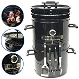 EasyGO Big Bad Barrel Pit Charcoal Barbeque 5 in 1 Can be Used as a Smoker Grill BBQ, Pizza Oven,...