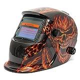 Skull Fire Solar Auto Darkening Welding Grinding Helmet Welder MIG Mask - Electrical Welding Tools Helmet Mask & Goggles - 1 x Aluminum Vise Clamp