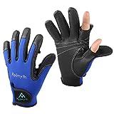 Palmyth Neoprene Fishing Gloves for Men and Women 2 Cut Fingers Flexible Great